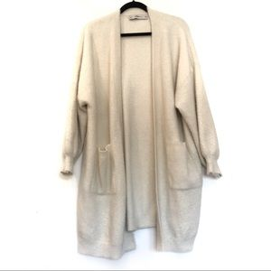 [ZARA] Soft over-sized open front knit cardigan M